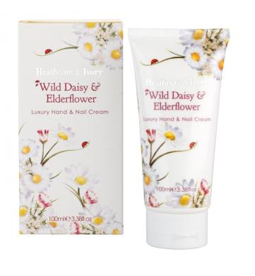 Heathcote & Ivory Florals Wild Daisy and Elderflower Luxury Hand and Nail Cream 100ml