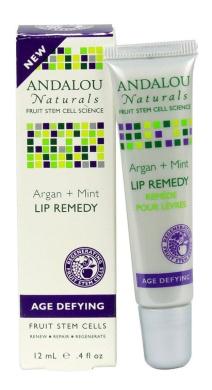 Andalou Naturals Lip Remedy Argan Plus Mint, Argan Plus Mint, 10ml