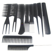 TRIXES 10Pc Salon Hair Styling Hairdressing Hairdresser Barber Plastic Combs Set