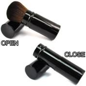 RETRACTABLE Sable Hair Kabuki Mineral Powder Brush CODE