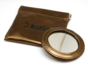 Morgan Metallic Bronze Pocket Mirror and Pouch