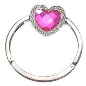 FEMME Silver Pink Heart Handbag Hook / Bracelet