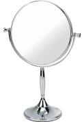 Chrome Pedestal Mirror True Image x7 Magnfied 32cmx7.5cm
