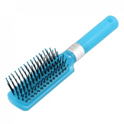 Blue Plastic Handle Hairdressing Wavy Curly Hair Luminous Comb