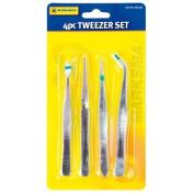 4 Piece Craft/Jewellery Tweezer Set