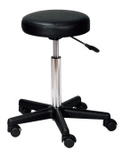 Gas Lift Stool - Black - For Beauty Salon, Barber, Hairdressers, Massage, Manicure, Tattoo, Spa, Office