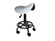 Ergolite® Saddle Stool with Gas Lift in White