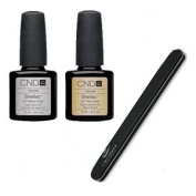 Cnd Shellac Top + Base Coat 7.3Ml + Free Outblack Padded File