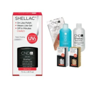 Cnd Shellac Usa Starter Kit - Black Pool Colour Starter Kit - Top & Base Coat + Essentials