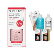 Cnd Shellac Usa Starter Kit - Clearly Pink Colour Starter Kit - Top & Base Coat + Essentials