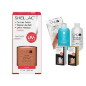 Cnd Shellac Usa Starter Kit - Cocoa Colour Starter Kit - Top & Base Coat + Essentials