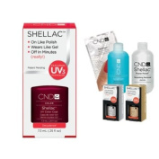 Cnd Shellac Usa Starter Kit - Decadence Colour Starter Kit - Top & Base Coat + Essentials