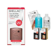 Cnd Shellac Usa Starter Kit - Iced Cappuccino Colour Starter Kit - Top & Base Coat + Essentials