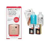 Cnd Shellac Usa Starter Kit - Iced Coral Colour Starter Kit - Top & Base Coat + Essentials