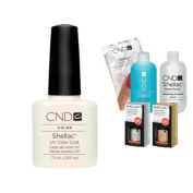 Cnd Shellac Usa Starter Kit - Moonlight & Roses Colour Starter Kit - Top & Base Coat + Essentials