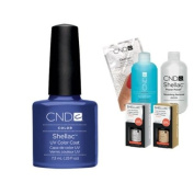 Cnd Shellac Usa Starter Kit - Purple Purple Colour Starter Kit - Top & Base Coat + Essentials