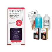Cnd Shellac Usa Starter Kit - Rock Royalty Colour Starter Kit - Top & Base Coat + Essentials