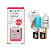 Cnd Shellac Usa Starter Kit - Romantique Colour Starter Kit - Top & Base Coat + Essentials