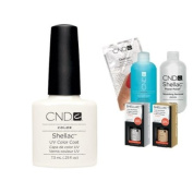 Cnd Shellac Usa Starter Kit - Studio White Colour Starter Kit - Top & Base Coat + Essentials