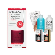Cnd Shellac Usa Starter Kit - Red Baroness Colour Starter Kit - Top & Base Coat + Essentials