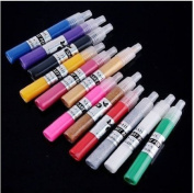 12 Colour 3d Paint Nail Art DIY Polish Pen Uv Gel Acrylic Tips Set Salon Beauty by manufacture seller