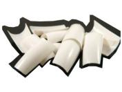 100 White False Fake Nails Nail Tips French Acrylic FREE GLUE