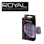 Royal Cosmetic Connexions - Strong & Resilient 24 Glue-On Caviar Nail Tips (inc. glue) - Blue.