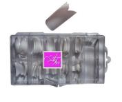 ATNails 100 False White French Acrylic Artificial Nail Art Tips No. 3