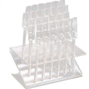 Clear 32 Tips Plastic Acrylic Nail Art Polish Display Stand Practise Tool