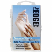 The Edge Nails French White 100 Assorted Nail Tips