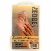 The Edge Nail Tips Competition Natural 100 Asstd - 2017511