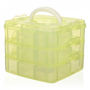 Portable Nail Art Tips Makeup Cosmetics Jewellery Container Storage Box Case