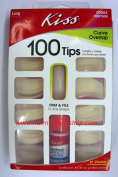 NAIL TIPS CURVE OVERLAP 100 TIPS- PROFESSIONALS