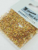 Millennium Nails Chunky Glitter & Bindis Gold - MILMCG3