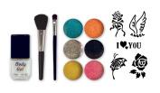 Debra Lynn Professional 6 Colours Glitter Body Tattoo Professional Kit