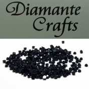 300 x 1mm Black Round Diamante loose Rhinestone Gems