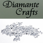 300 x 1mm Clear Round Diamante loose Rhinestone Gems