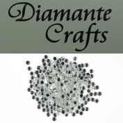 300 x 2mm Clear Round Diamante Loose Flat Back Rhinestone Gems - created exclusively for Diamante Crafts