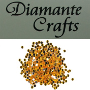 300 x 2mm Gold Round Diamante Loose Flat Back Rhinestone Gems - created exclusively for Diamante Crafts