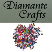 300 x 2mm Mixed Colours Round Diamante Loose Flat Back Rhinestone Gems - created exclusively for Diamante Crafts