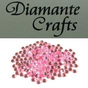 300 x 4mm Light Pink Round Diamante loose Rhinestone Gems