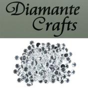200 x 6mm Clear Round Diamante loose Rhinestone Gems