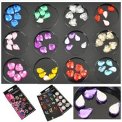 BF Mixed Colour (Heart & Eyedrop) Crystal Set (8mm-9mm, 12 Colour) CODE
