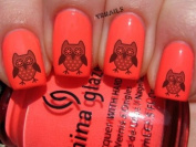 Flower Eyes Owl - Nail Decals by YRNails