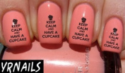 Keep calm and have a cupcake Nail Decals by YRNails
