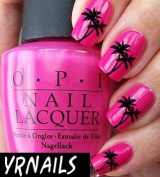Palm Trees Nail Decals by YRNails
