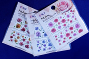 Roses Nail Art Water Slide Tattoo Decal - 3 pack with Bonus