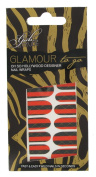 Girls With Attitude Glamour to Go Stripe Nail Wraps Red and Black