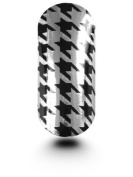 Celebrity Nail Foil/Wrap/Nail Art Hounds Tooth Black & Silver - MILCNF52