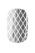 Nail Rock Nail Wraps - Silver Fishnet on White